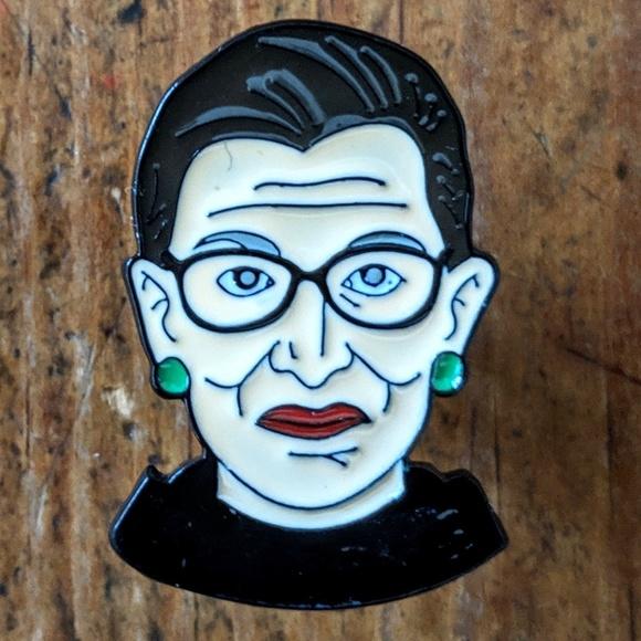 Accessories - Ruth Bader Ginsburg RBG Metal Enamel Pin